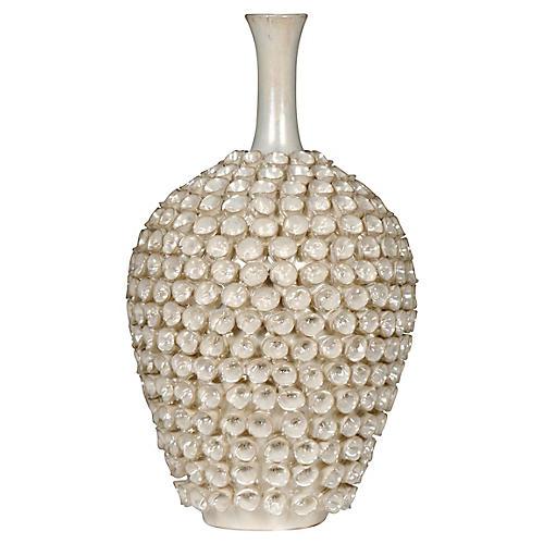 "16"" Seychelles Vase, Pearl"