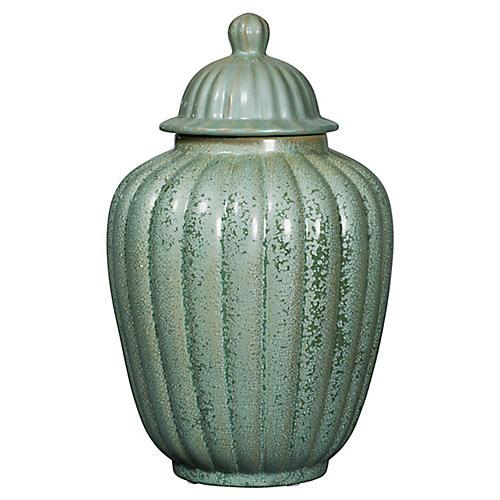 """19"""" Temple Jar, Celadon"""