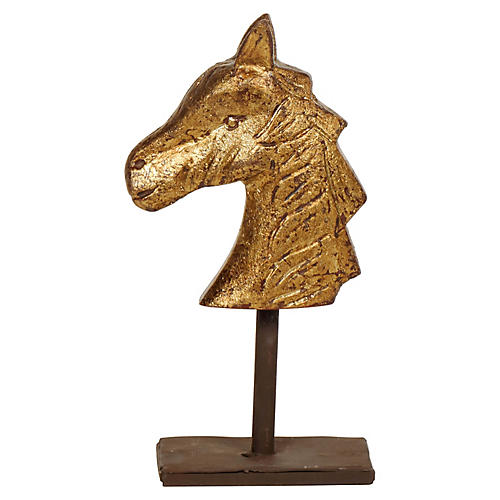 "8"" Darwin Horse Figurine, Gold/Brown"