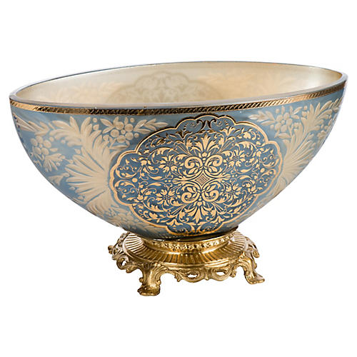 "11"" Bradbury Bowl, Blue/Gold"