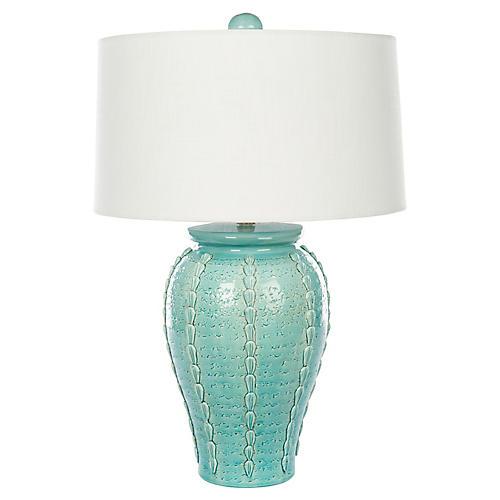 Bay Colony Table Lamp, Soft Aqua