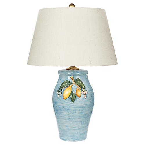 Mediterra Table Lamp, Soft Blue/Multi