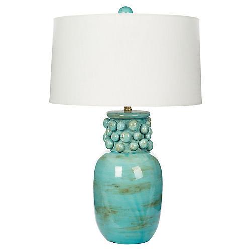 La Morada Table Lamp, Soft Aqua