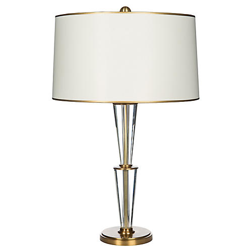Imperial Pointe Table Lamp, Crystal/Brass