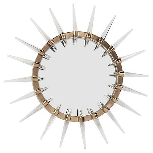 Shard Wall Mirror, Clear/Brass