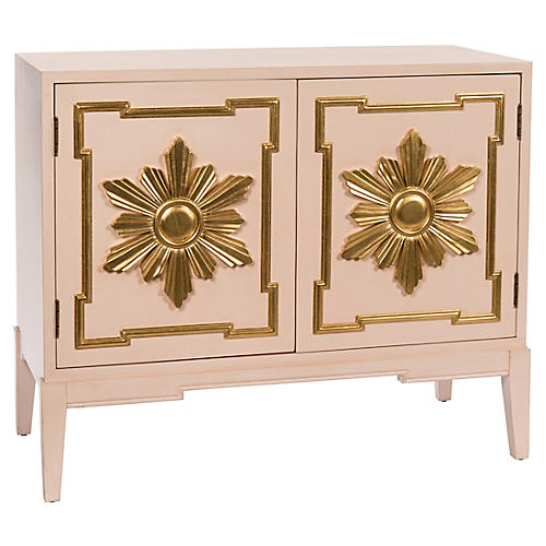 Heliacal Cabinet, Pink/Gold