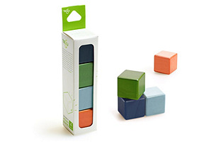 4-Piece Magnetic Wooden Blocks, Nelson