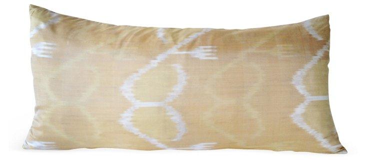 Ikat 15x30 Pillow, Beige