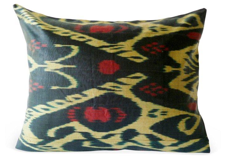 Ikat 14x20 Pillow, Green