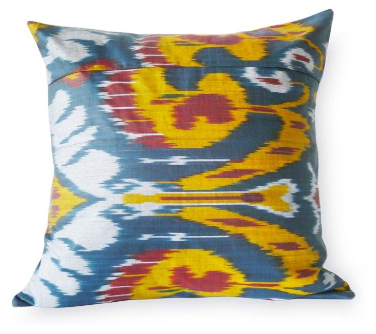 Feather 20x20 Pillow, Blue