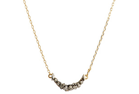 Gold Tiny Crescent Moon Short Necklace