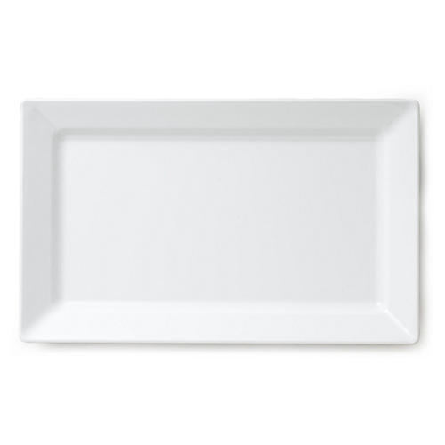 Melamine Rectangle Serving Platter, White
