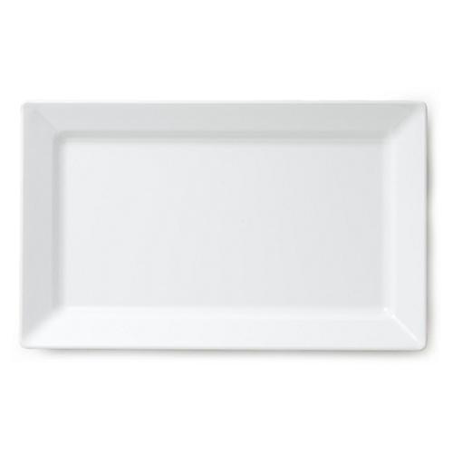 Melamine Rectangle Serving Platter, White