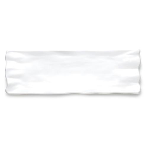 Melamine Ruffle Sandwich Platter, White
