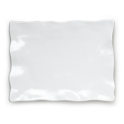 Melamine Ruffle Rectangle Serving Platter