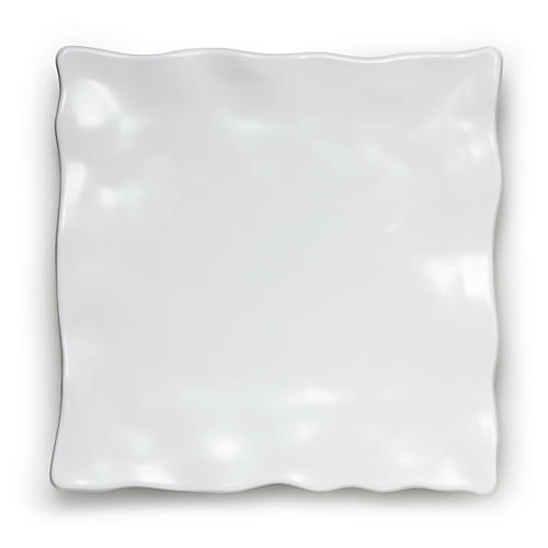 Melamine Ruffle Serving Platter, White