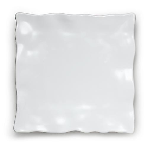 Melamine Ruffle Serving Platter, White