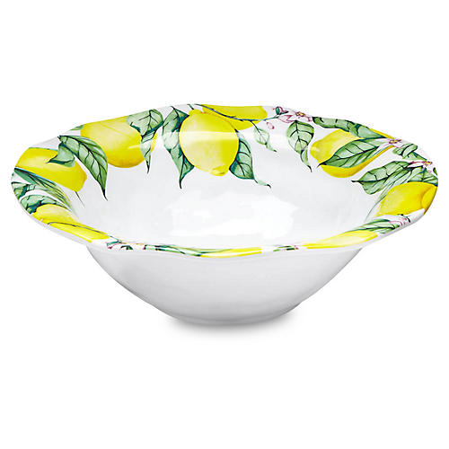 Limonata Melamine Serving Bowl, Yellow