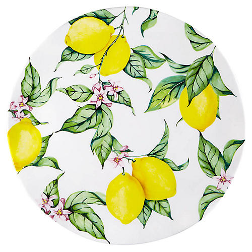 Limonata Melamine Platter, Yellow