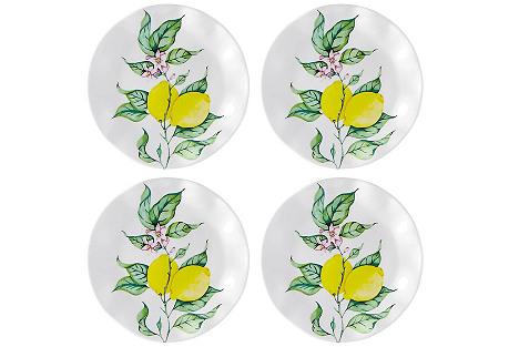 S/4 Limonata Melamine Bread Plates, Yellow