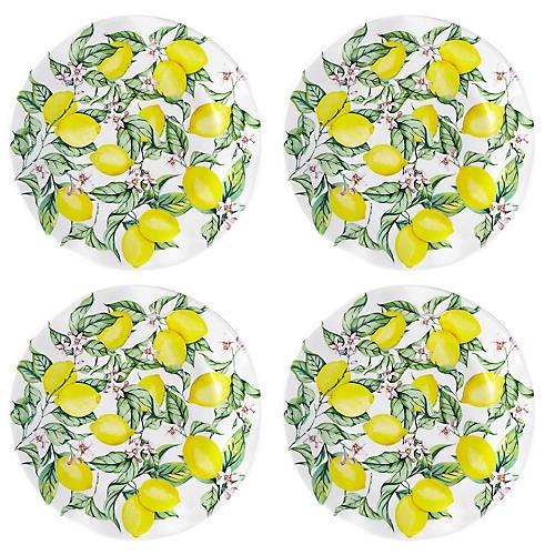 S/4 Limonata Melamine Salad Plates, Yellow