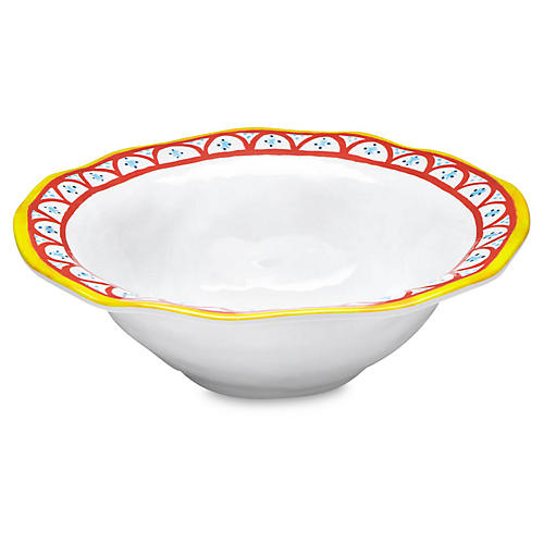 Porto Chalé Melamine Serving Bowl, Red