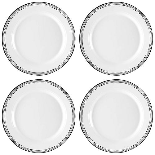S/4 Classica Melamine Salad Plates, White