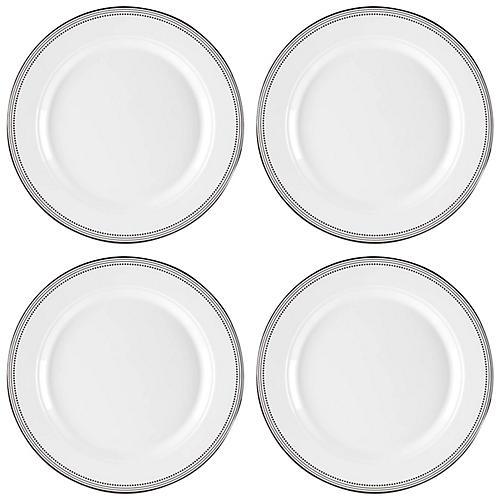 S/4 Classica Melamine Dinner Plates, White
