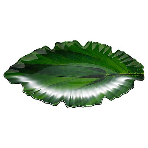 Zen Melamine Platter, Green