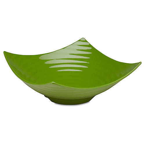 Zen Melamine Serving Bowl, Green