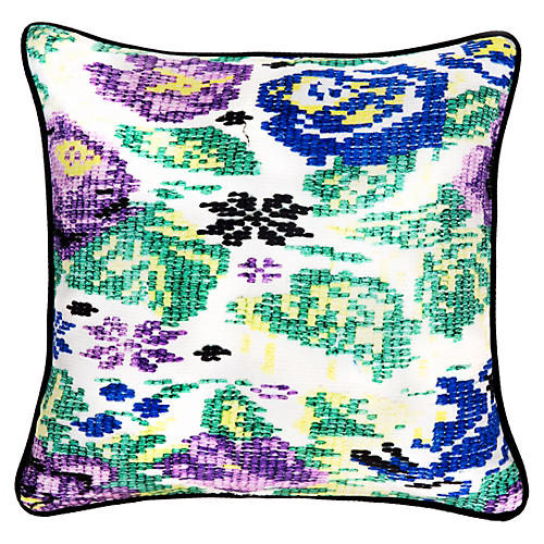Tecpan 18x18 Silk Pillow, Multi