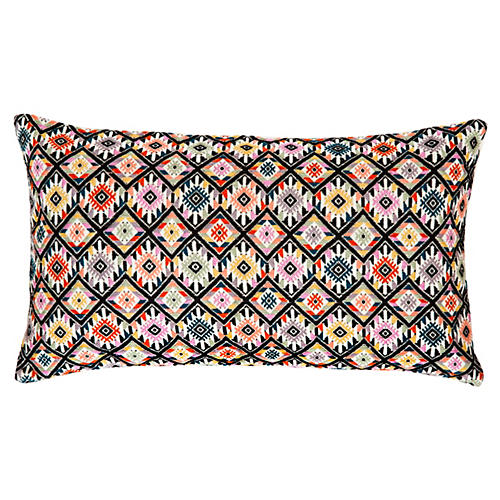 Nahuala 12x20 Pillow, Black