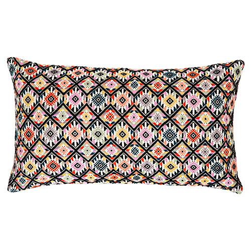 Nahuala 12x20 Pillow, Black