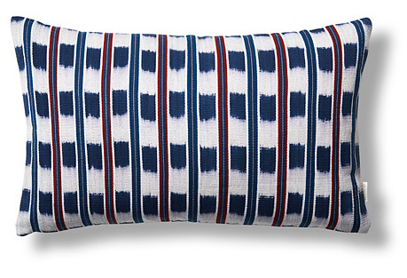Santiago 12x20 Pillow, Indigo/Red