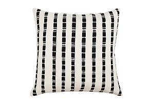Santiago Grid 18x18 Pillow, Black/White
