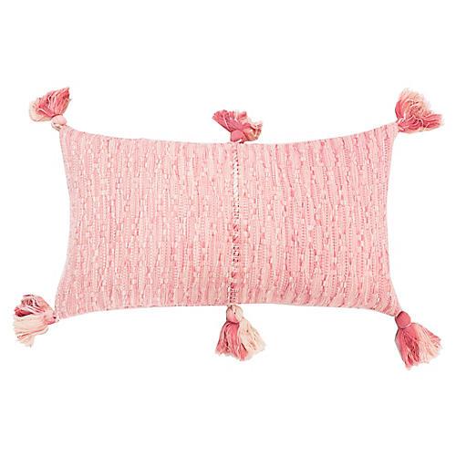Antigua 12x20 Lumbar Pillow, Pink/White