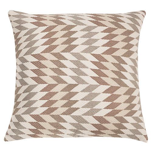 Almolonga 20x20 Pillow, Tan/Multi