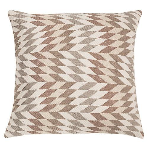 Almolonga 20x20 Pillow, Tan/Multi