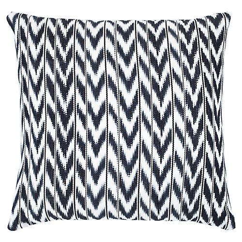 Toto 18x18 Pillow, Black/White