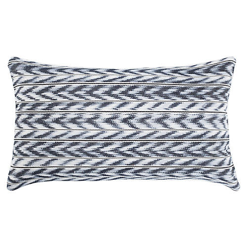 Toto 12x20 Lumbar Pillow, Gray/White