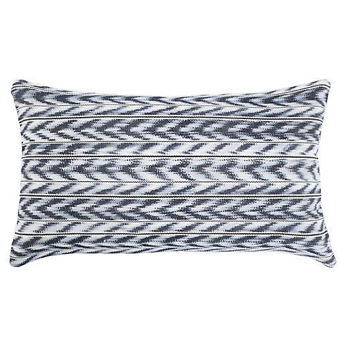 Toto 12x20 Lumbar Pillow, Gray/White