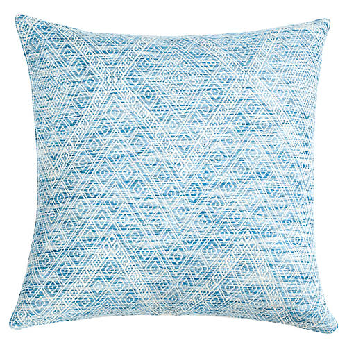 Nahualá 20x20 Pillow, Blue/White