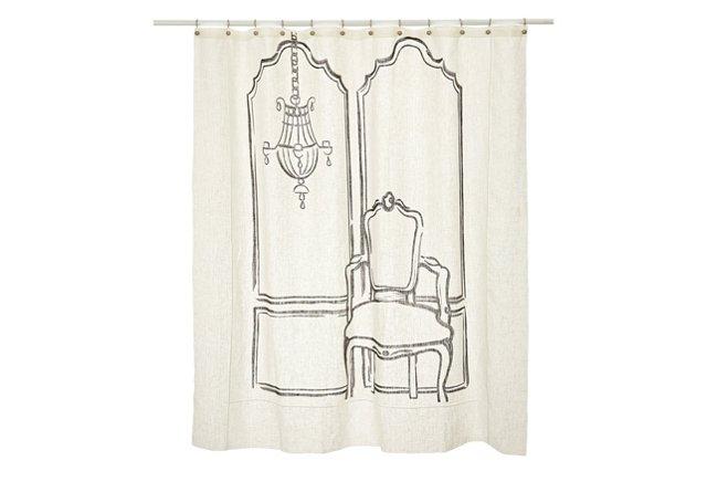 Louis XIII Shower Curtain