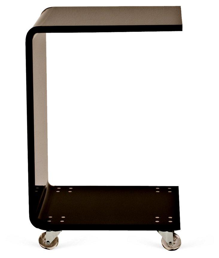 C-Shape Side Table, Black