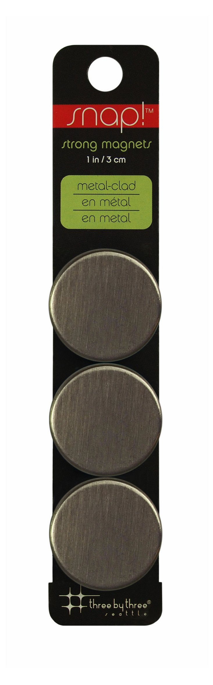 Snap! Strong Steel Magnets, S/12