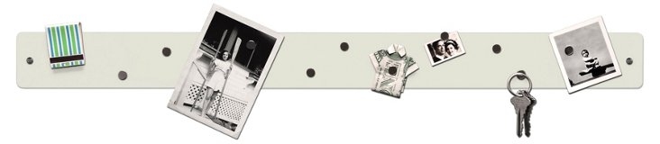 S/2 Magnetic Strip Boards, White