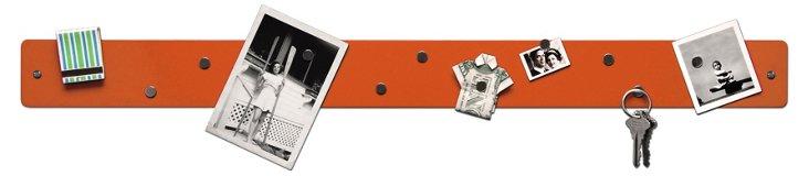 Magnetic Strip Bulletin Board, Orange
