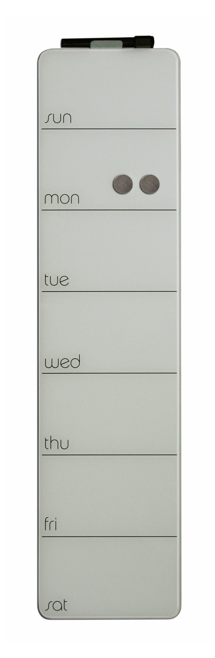 Magnetic Glass Weekly Planner, White