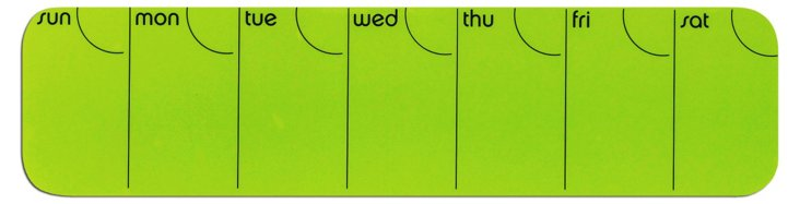 Stick It! Silicone Weekly Planner, Green