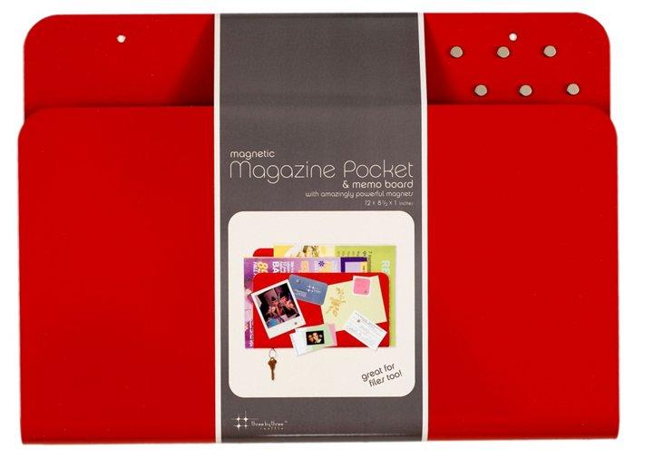 Magazine Memo Board, Red